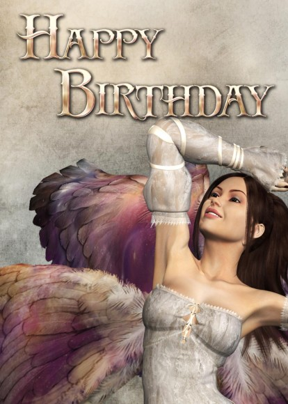 Angel Birthday Card Picture