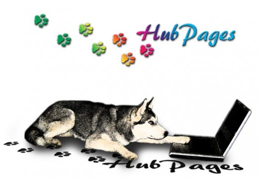 This is a simpler version of the HubPages dog art above.