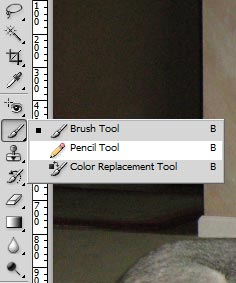 Step 4 - Right click on the Brush Tool at the left of the interface and select the Pencil Tool.