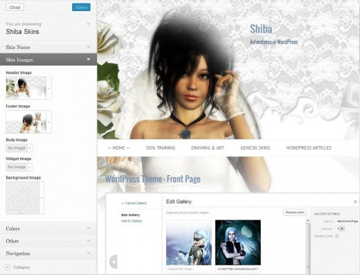 Screenshot of how to insert images into your WordPress wedding blog.