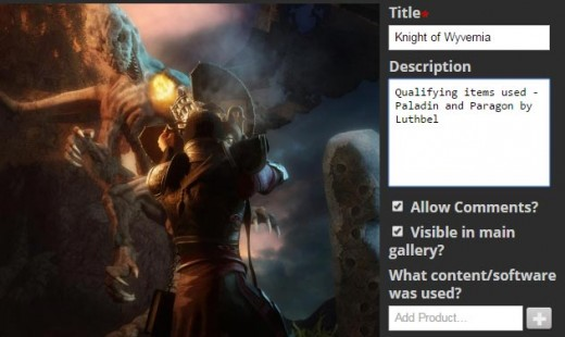 Screenshot of how to edit images in the Daz Gallery.