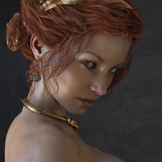 Greater line detail on our Daz Studio Iray skin by increasing bump strength to 5.