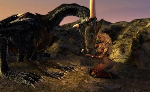 Required items used : War Armor for Daz Dragon 3 by Valandar. Dragon Queen for Genesis 3 Female(s) by Valandar.