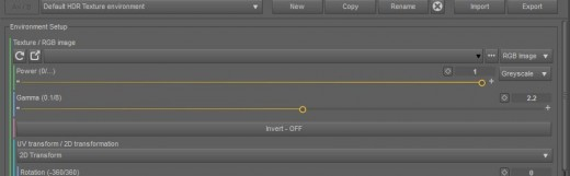 Screenshot of how to setup a HDR image in Daz Studio Octane.