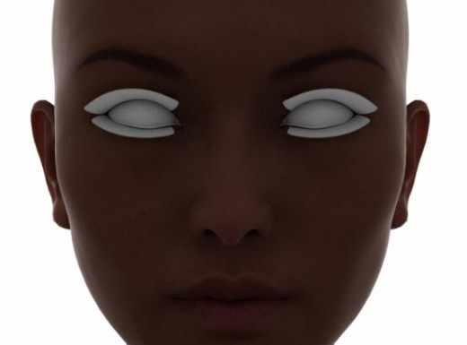 Face screenshot of our skin material in the render viewport.