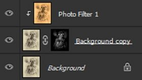 Screenshot of our Photoshop layer stack after punching up out shadows and add in more color.
