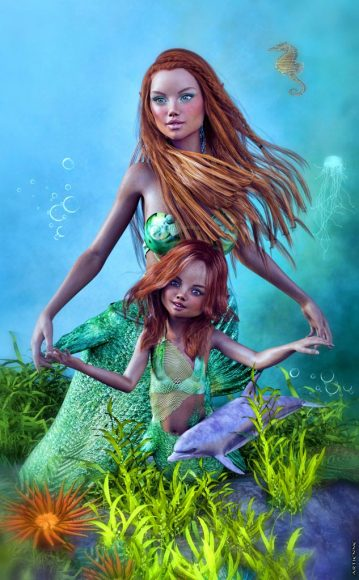 Qualifying items used –Laguna: Mermaids - Poses for Indigo/Victoria 7 and Jade/Teen Josie 7 by Sedor Growing Up for Genesis 3 Female(s)by Zev0