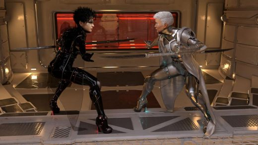 Qualifying items used – dForce Void Suit-X Outfit and Weapons for Genesis 8 Female(s) by HM